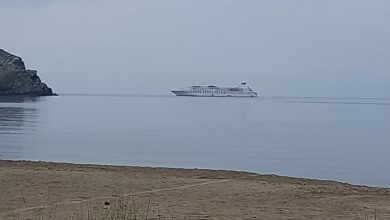 Photo of Ενα κρουαζιερόπλοιο ανοιχτά από τη Μύρινα, με 7 μποφορ !